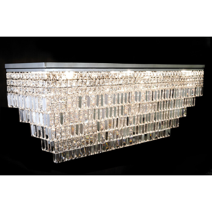 crystal palace GALANTIS large crystal ceiling light in chrome