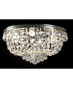 crystal palace HANNA 40 cm flush crystal ceiling 6 lights in chrome
