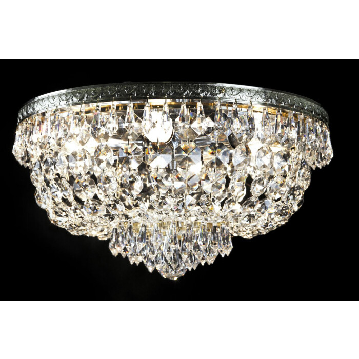 crystal palace HANNA 40 cm flush crystal ceiling 6 lights in chrome