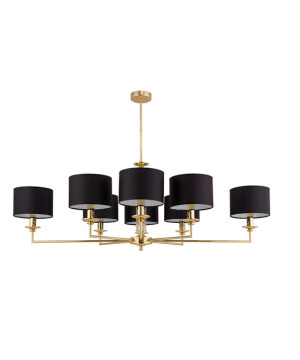 lighting room ARTU 8 lights gold chandelier