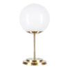 Glass house BACAN table lamp glass in brass
