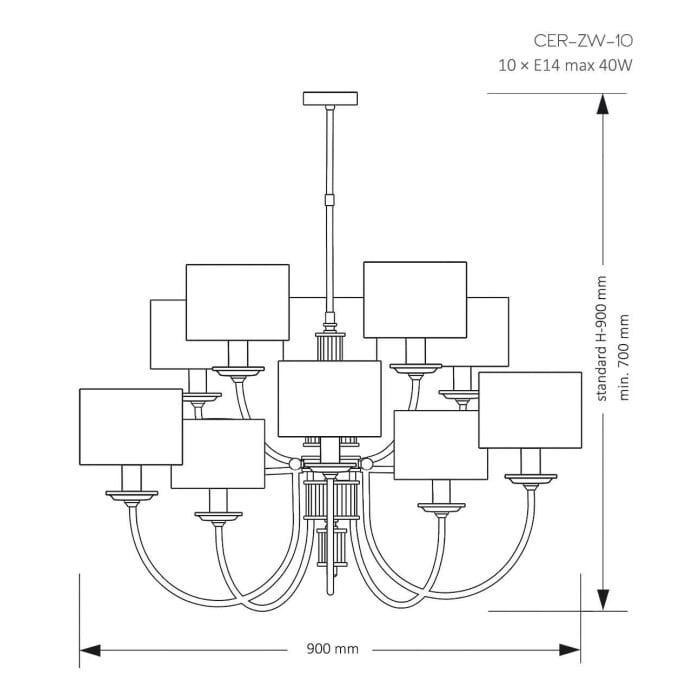 cero large chandelier