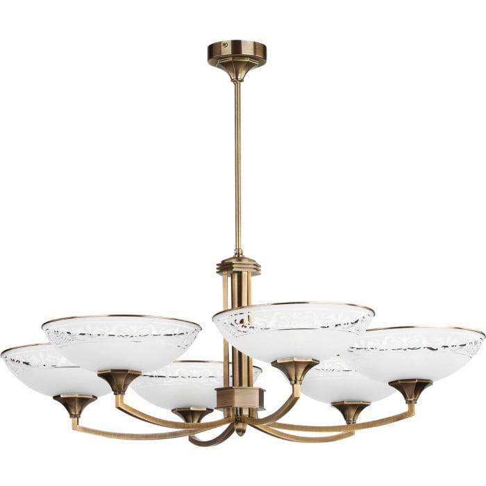 bespoke lighting decor 6 lights chandelier with glass shades