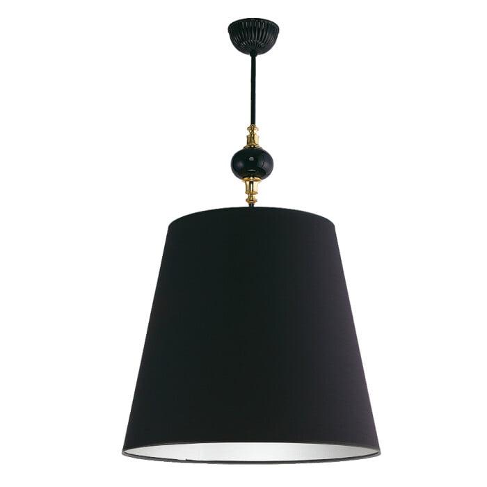 Lighting room NARNI black pendant light