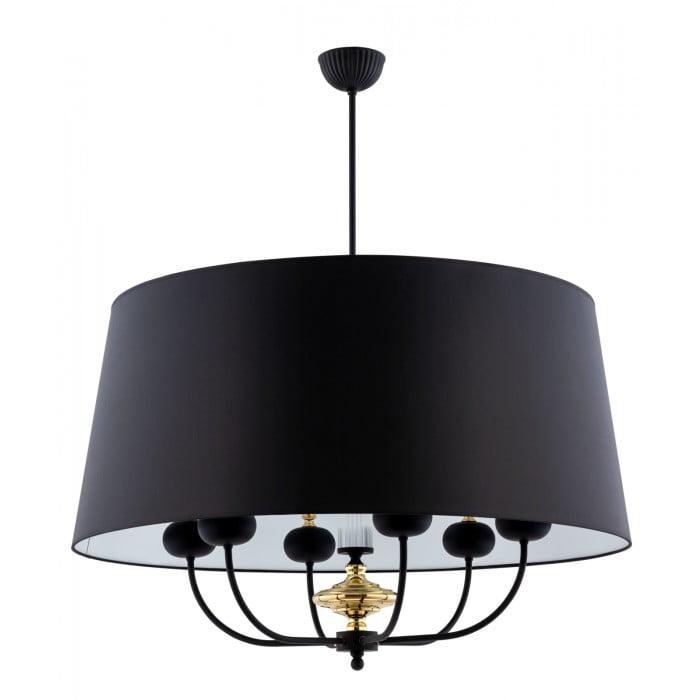 Lighting room NARNI large pendant light with black shade