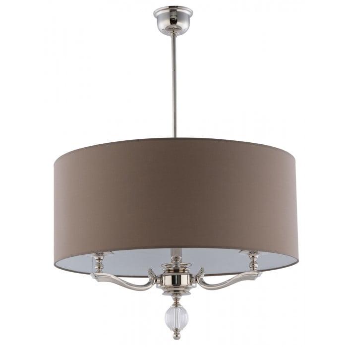 Lighting room TIVOLI large pendant 3 lights in nickel