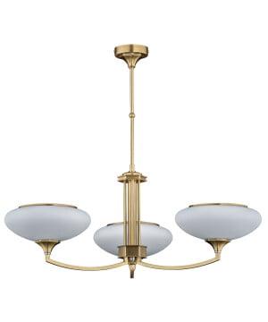 bespoke lighting decor 3 lights chandelier with glass shades