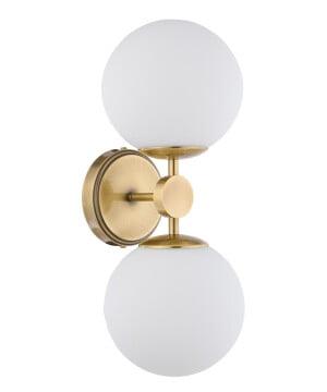 bespoke lighting dimaro double glass globes wall light