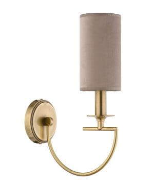 bespoke lighting lea gold wall light with fabric shade