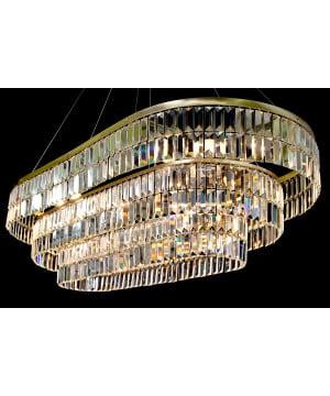 crystal lighting MODEO 120 brass statement chandelier