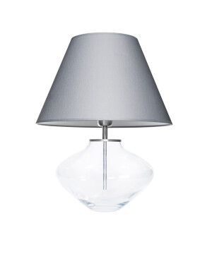 glass house bali clear glass table lamp with fabric shade