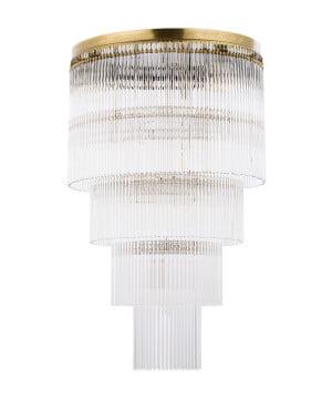 bespoke lighting filago Long chandeliers 7 lights in brushed brass