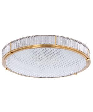 bespoke lighting lavone flush light in brushed brass
