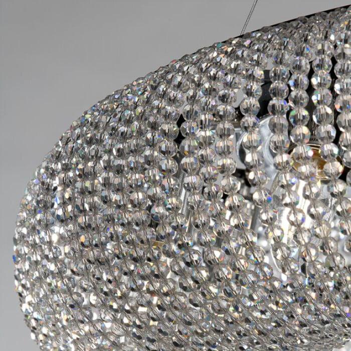 crystal glass pendant light OLAF