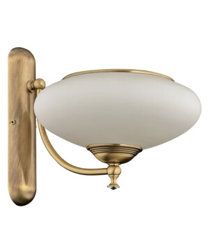 classic san marino wall light in brushed brass with glass shades