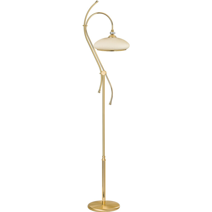 classic san marino floor lamp in gold with glass shade