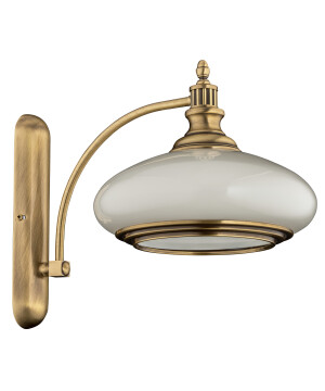 classic wall light sorrento with glass shade