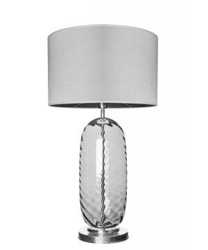 glass house chloe grey glass steel table lamp