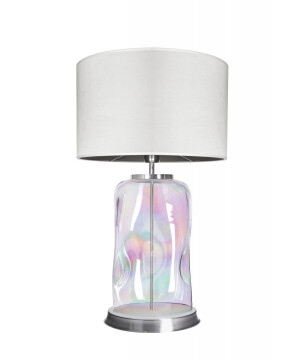 glass house ruu pearl glass bedside table lamp with shade