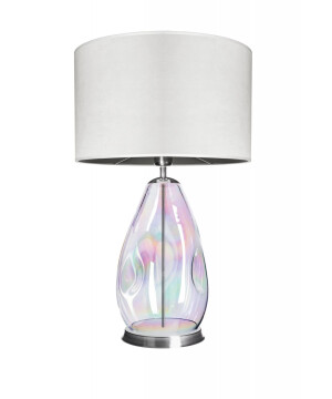 glass house storm pearl glass table lamp