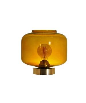 glass house jawa amber glass table lamp base