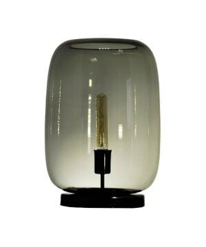 glass house laut grey glass table lamp black