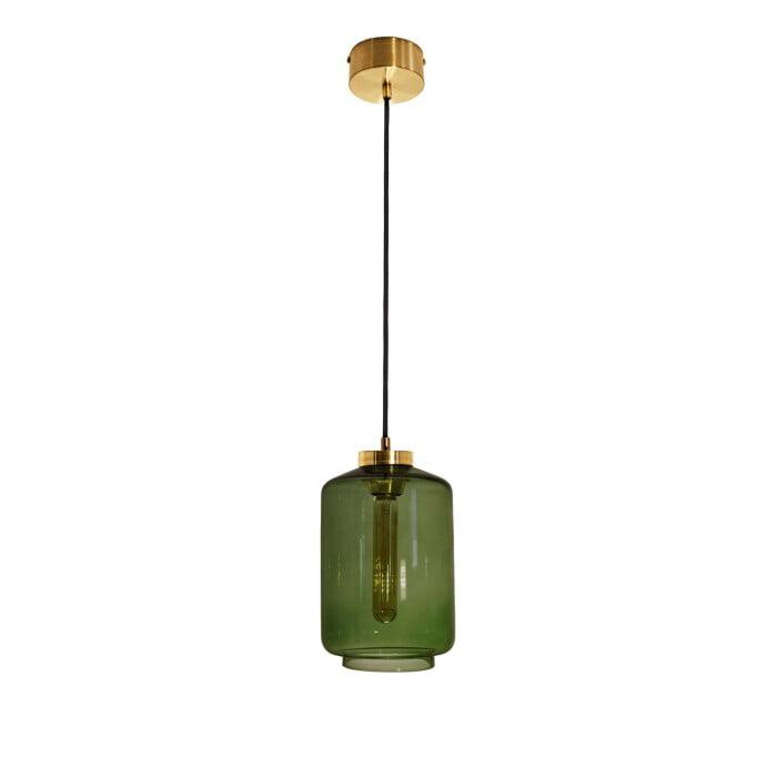 kitchen island lighting leyte green glass shade ceiling light brass
