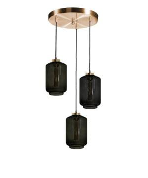 kitchen island lighting leyte cluster glass pendant light brass