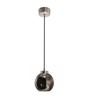 kitchen lighting reunion s silver glass shade pendant steel