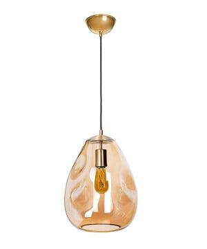 glass house STORM amber glass single pendant light