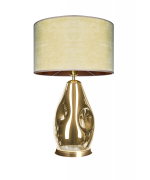 glass house storm gold glass table lamp