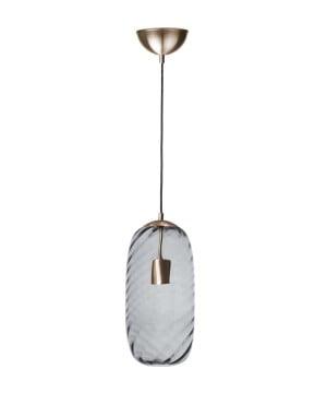 glass house chloe black lister glass brass pendant