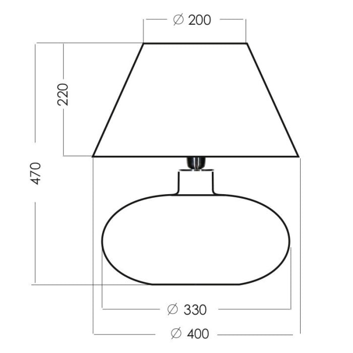 glass table lamp tanzania amber black measurements
