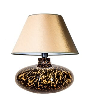 glass table lamp tanzania amber black gold