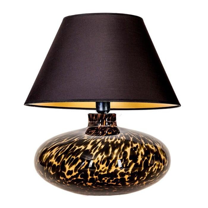 glass table lamp tanzania amber black